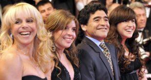 Claudia, Dalma, Diego y Gianinna, en épocas de concordia