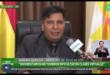 El ministro de Educación, Adrán Quelca, en una entrevista con Bolivia TV. Foto: Captura de video