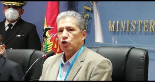 El ministro de Defensa, Edmundo Novillo. Foto: ABI