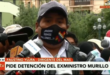 El dirigente Faustino Yucra reaparece y hoy habló con los periodistas en plaza Murillo. Foto: Captura de video / Red Uno