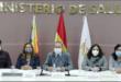 El ministro de Salud, Édgar Pozo, junto a otras autoridades. / ABI