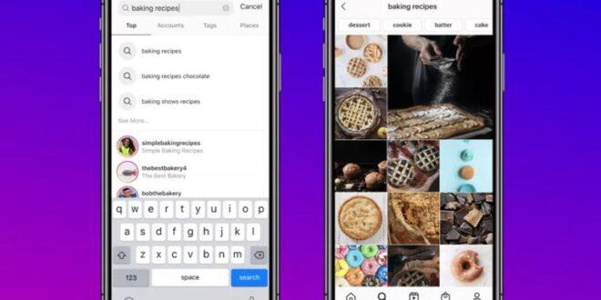Se incorporó una nueva opción para facilitar la búsqueda de contenido en Instagram