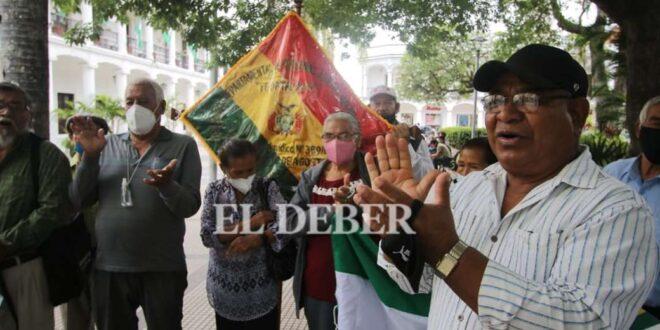 la protesta fue en Plaza 24 de Septiembre Foto El Deber
