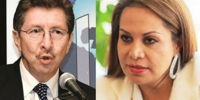El exministro de Goni, Carlos Sánchez Berzaín, y la exministra Lizárraga, de la gestión de Añez.
