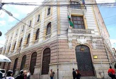 Edificio de la Cancillería Boliviana en La Paz.