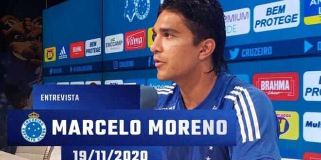 Marcelo Martins Moreno, delantero boliviano del Cruzeiro. Foto: Prensa Cruzeiro