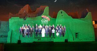Foto anual de la cumbre del G20 celebrada en Arabia Saudita 2020