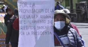 Una de las protestas exigiendo el diferimiento de los créditos. ARCHIVO