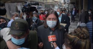 El exdirector de Migración, Marcel Rivas, cuando fue detenido en el centro de la ciudad de La Paz. Foto: APG