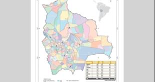 El mapa de la geografía electoral aprobada por el Tribunal Supremo Electoral. Foto: Fuente Directa