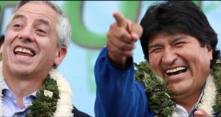 El exvicepresidente García Linera y el exmandatario Morales. Foto: Archivo