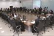 El encuentro que sostuvieron este lunes los jefes de la Policía Boliviana. Foto:Ministerio de Gobierno