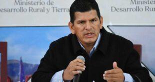 Wilson Caceres dejo de ser Ministro de Desarrollo Rural Foto: ABI