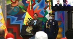 El presidente boliviano, Luis Arce, enfrenta la pandemia de la Covid-19 en las complejas condiciones en que dejó el país un año de gobierno de facto. | Foto: Twitter: Luis Arce