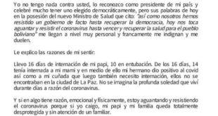Parte de la nota que escribió Tania Imaña. Foto:Twitter