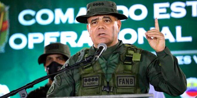 El general en Jefe Vladimir Padrino López, Ministro de la Defensa de la dictadura venezolana