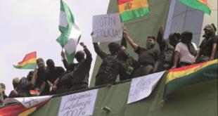 El motín policial contra el gobierno de Evo Morales en Santa Cruz en noviembre de 2019.
