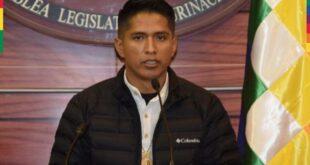 El presidente de la Cámara de Senadores, Andrónico Rodríguez. / Foto: Senado Bolivia.