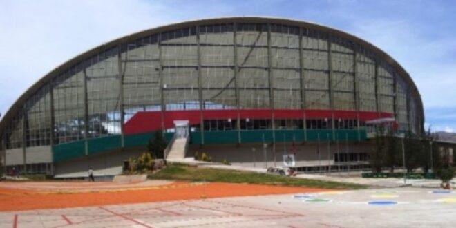 Los exteriores de la piscina olímpica de Alto Obrajes. / Foto: Gobernación de La Paz