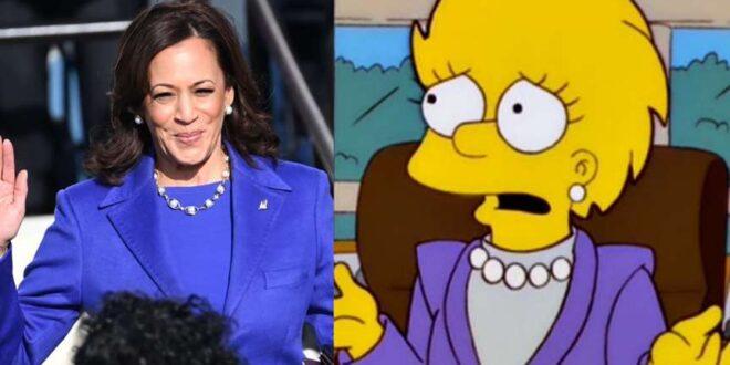 Kamala Harris y Lisa Simpson ¿parecido o coincidencia?