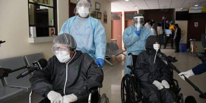 Pacientes con COVID-19 en un hospital municipal. Foto: AMN