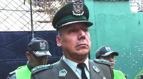 El excomandante de Policía de Cochabamba, Jaime Zurita. ARCHIVO
