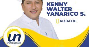 Kenny Walter Yanarico, candidato de Unidad Nacional a la alcaldía de Viacha.
