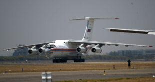 La nave Ilyushin Il-76 en una pista de aterrizaje. Foto: mundo.sputniknews.com