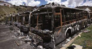 Más de 60 buses PumaKatari fueron quemados el 10 de noviembre de 2019.