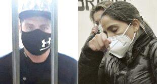 Yaccir Molina tras las rejas (i) y la hija de la expresidenta Jeanine Áñez en la cárcel de Obrajes. ARCHIVO-EFE