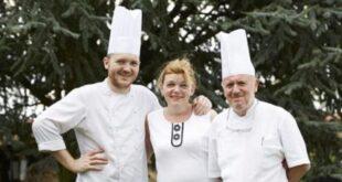 Marcel Keff, a la derecha, con su hijo Lucien y su esposa Christine (la-lorraine.fr)