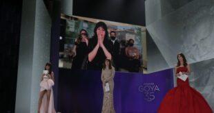 Daniela Cajías, al recibir el Goya a la Mejor dirección de fotografía. Foto: Europa Press / ACADEMIA DE CINE