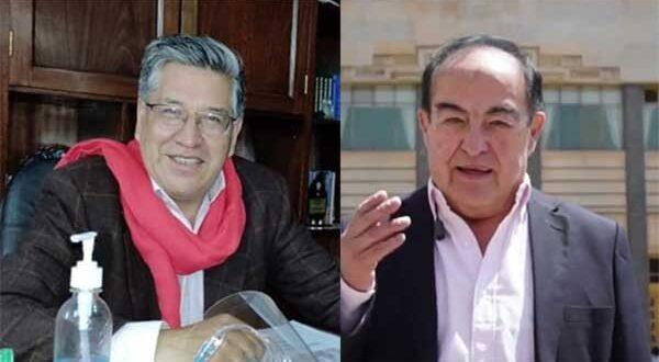 Los candiidatos Óscar Heredia y Gonzalo Taboada. Foto: ERBOL