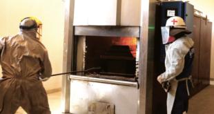 El crematorio de la Alcaldía de Sacaba, donde se duplicaron las cremaciones. / Foto: APG