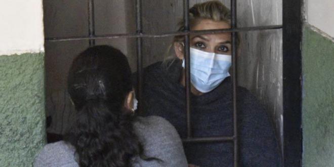 expresidente Jeanine Añez en una celda de la Felcc. | Foto archivo | APG