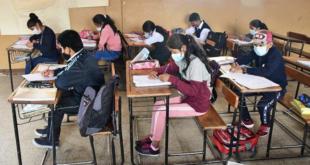 Estudiantes en clases semipresenciales en la zona sur de Cochabamba (archivo). | Los Tiempos
