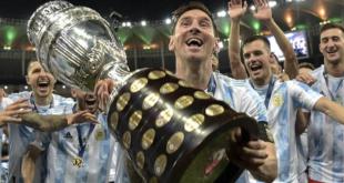 Lionel Messi, capitán de la selección de Argentina, en la Copa América 2021.   AFP