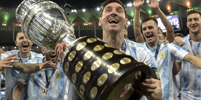 Lionel Messi, capitán de la selección de Argentina, en la Copa América 2021. | AFP
