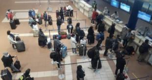 Ciudadanos en el aeropuerto Jorge Wilstermann. FOTO ilustrativa   Los Tiempos