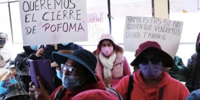 Protesta de comerciantes de animales. | Erbol