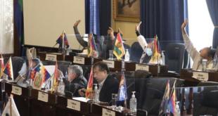 Parlamentarios durante una sesión en la Cámara de Senadores.   @SenadoBolivia