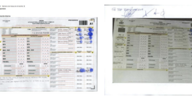 """Peritaje internacional al caso fraude no analizó si hubo falsificación de actas electorales Ese fue uno de los aspectos que sí fueron detectados en la auditoría de la OEA. El análisis de los expertos se basó en información informática que fue proporcionado por la Fiscalía Jesus Reynaldo Alanoca Paco 30/7/2021 13:25 ESCUCHA ESTA NOTA AQUÍ """"Si hubo falsificación (de actas) o en el camino o en algún sitio, eso no ha sido el objeto de nuestro trabajo"""", admitió el experto español Juan Manuel Corchado, que dirigió el grupo contratado por la Fiscalía para realizar una pericia del caso fraude electoral de 2019. Ese aspecto no fue parte de la investigación, que se centró en aspectos informáticos, delimitados en base a información que proporcionó el Ministerio Público, en la que se encontró """"anomalías, negligencias y errores"""", pero no manipulación de los resultados del sufragio. La auditoría de la Organización de Estados Americanos (OEA) encontró en el proceso electoral de 2019 existió alteración de actas electorales y la falsificación de las firmas de los jurados de mesas. El organismo evaluó a 4.000 de las 34.000 actas de esos comicios y encontró """"adulteraciones, falsificaciones y manipulaciones"""" que alcanzaron a 87 centros de votación. """"Nosotros hemos visto que claramente que las actas, algunas actas han llegado mal pero no vamos a valorar el proceso 'antes', solamente evaluamos el hecho de que un acta es imposible que se lea bien"""", dijo Corchado en entrevista con Red Uno. La entrevista: Explicó que la investigación que realizaron evidenció más irregularidades que la labor de la OEA, aunque reconoció que esa auditoría """"también habla de la cadena de custodia, que no garantizó que el material electoral no haya sido manipulado"""", pero que ellos no se """"metieron a eso"""". """"No hemos visto en ningún caso ninguna manipulación, sí muchos errores que yo creo que son obvios y que son después de todos los informes que se han hecho, pero no una manipulación en los datos fruto de todos eso"""