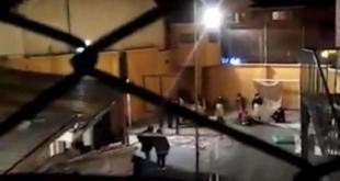 Protesta en el penal de Miraflores. | BTV