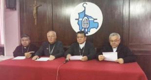 La directiva de los obispos de Bolivia, en conferencia de prensa.   rrss