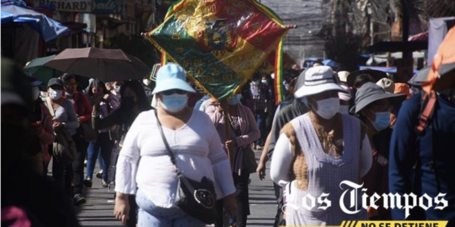 Marcha de gremiales en Cochabamba.   José Rocha