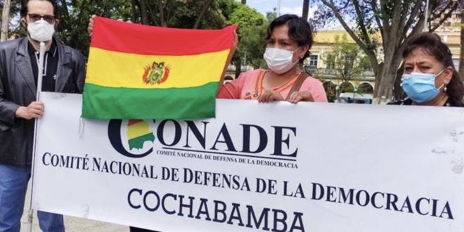 Representantes de Conade en Cochabamba.   Los Tiempos