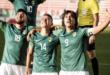 Jugadores de Bolivia celebran un gol contra Paraguay. Foto: EFE.